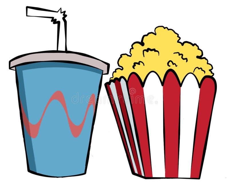 πρόχειρα φαγητά κινηματογ&r διανυσματική απεικόνιση