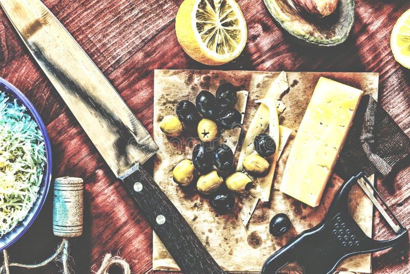 Πρόχειρα φαγητά κρασιού Ορεκτικά κρασιού στοκ εικόνα με δικαίωμα ελεύθερης χρήσης