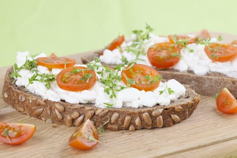Πρόχειρα φαγητά τυριών εξοχικών σπιτιών στοκ εικόνα με δικαίωμα ελεύθερης χρήσης