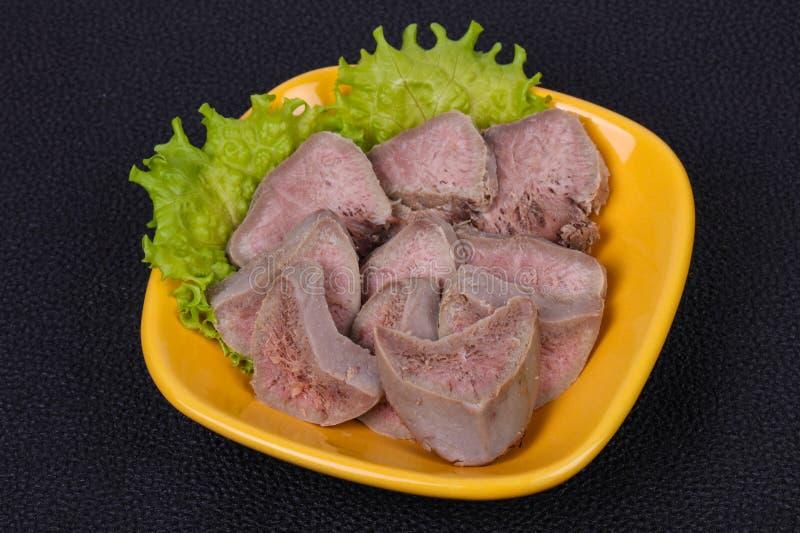 Πρόχειρο φαγητό γλωσσών χοιρινού κρέατος Gurmet στοκ εικόνες