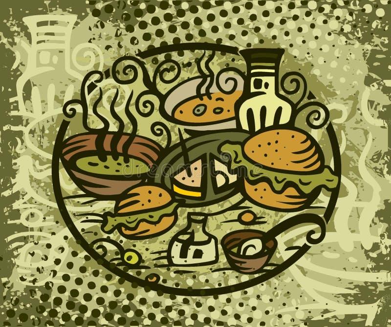 πρόχειρο φαγητό σάντουιτς στοκ εικόνα με δικαίωμα ελεύθερης χρήσης