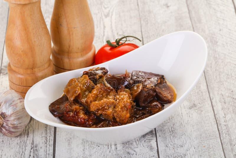 Πρόχειρο φαγητό Eggpant - ιμάμης bayaldy στοκ φωτογραφίες