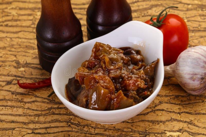 Πρόχειρο φαγητό Eggpant - ιμάμης bayaldy στοκ εικόνες