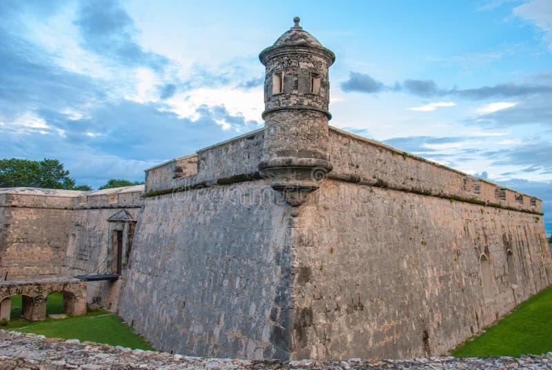 Πρόχωμα Fuerte de SAN Miguel Campeche Μεξικό στοκ εικόνα με δικαίωμα ελεύθερης χρήσης