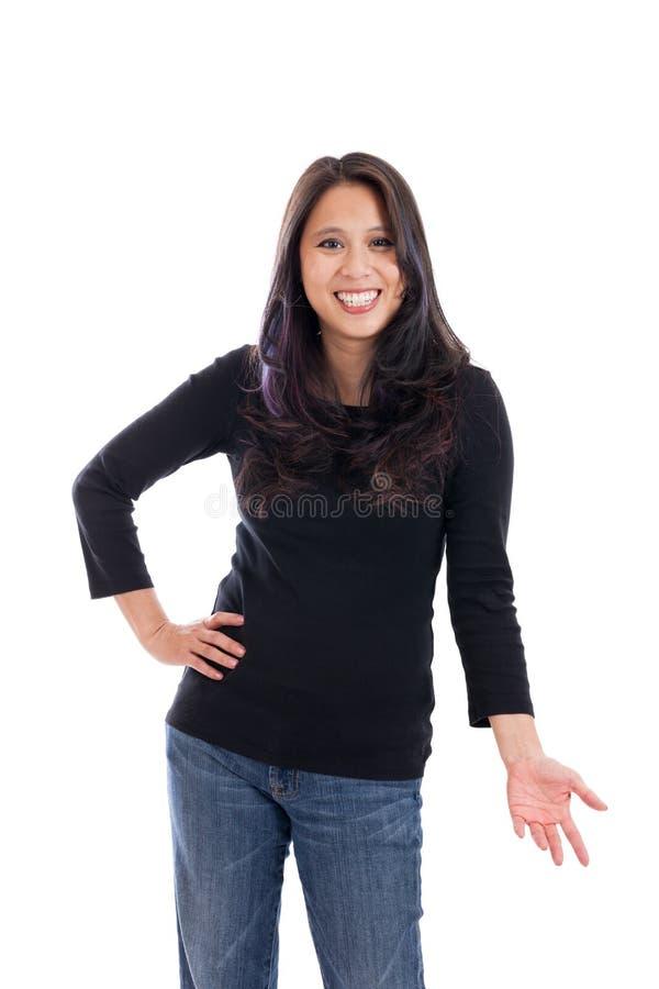 Εκφραστική ασιατική γυναίκα στοκ φωτογραφία