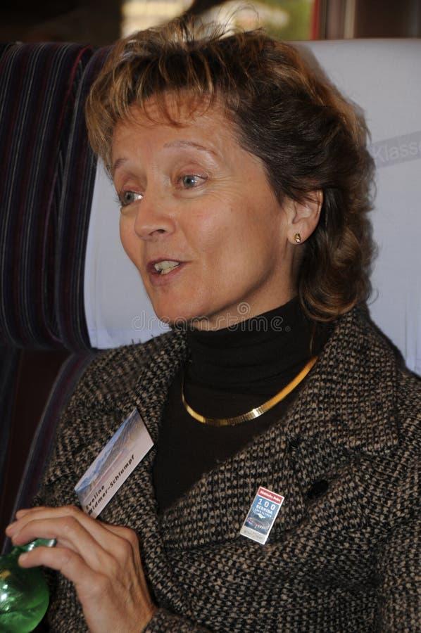Πρώην ελβετικοί καγκελάριος και υπουργός Δικαιοσύνης Eveline widmer-s στοκ φωτογραφίες