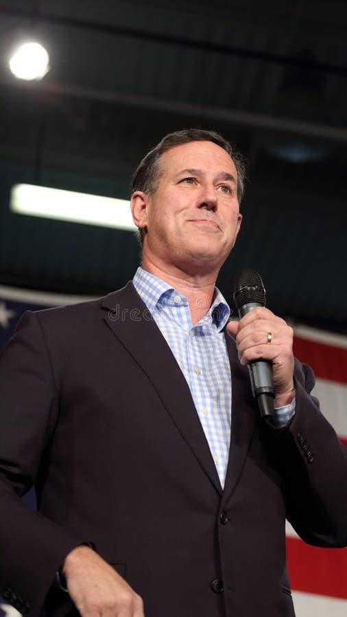 Πρώην Ηνωμένος γερουσιαστής από Πενσυλβανία, δημοκρατικό Rick Santorum, εκστρατείες για την προεδρία στοκ εικόνα