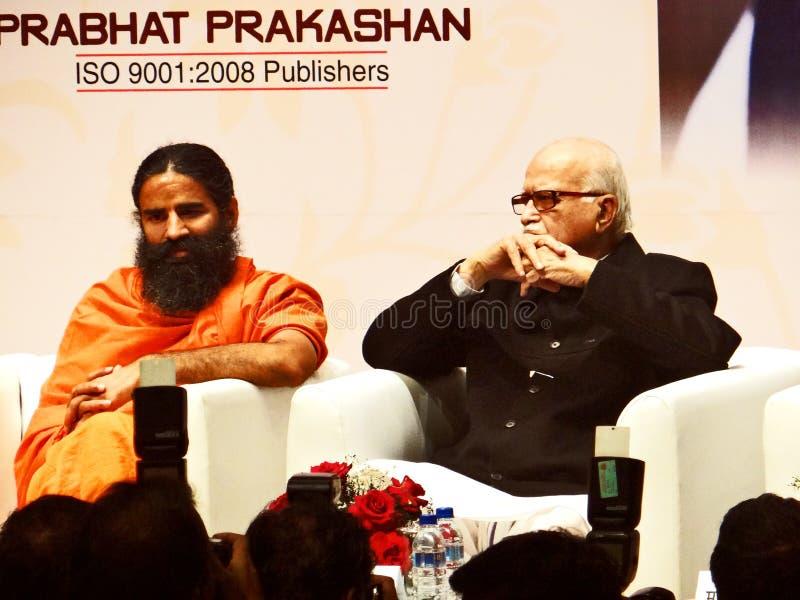 Πρώην ινδικοί αναπληρωτής πρωθυπουργός και γκουρού Μπάμπα Ραμντέβ της LK Adwani γιόγκας στοκ εικόνα