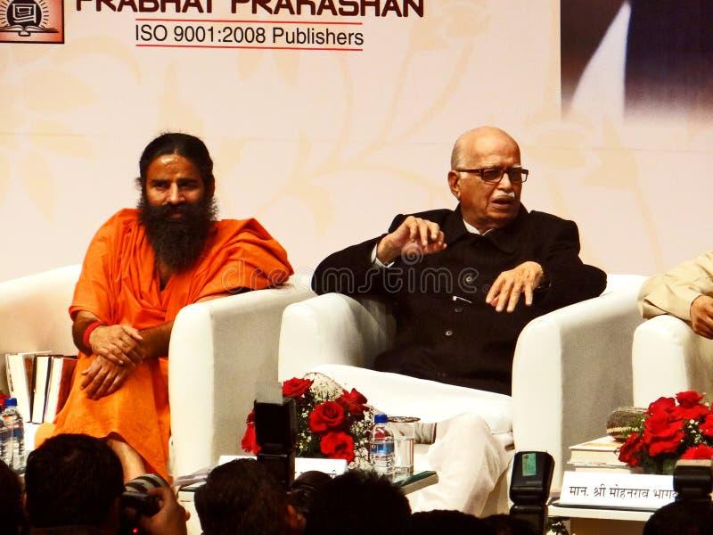 Πρώην ινδικοί αναπληρωτής πρωθυπουργός και γκουρού Μπάμπα Ραμντέβ της LK Adwani γιόγκας στοκ εικόνες