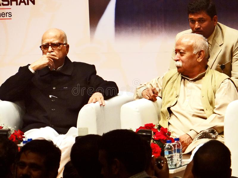 Πρώην ινδικοί αναπληρωτής πρωθυπουργός και Mohan Bhagwat της LK Adwani στοκ εικόνες με δικαίωμα ελεύθερης χρήσης
