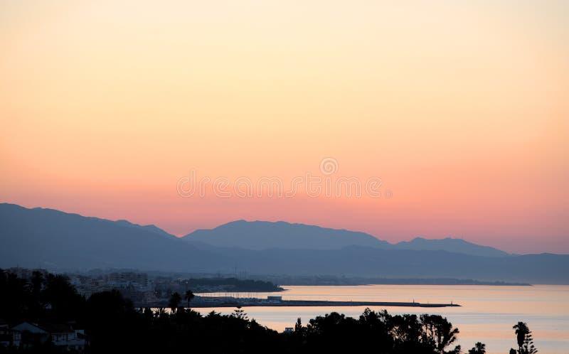 πρώιμη marbella ανατολή της Ισπανίας πρωινού στοκ εικόνες