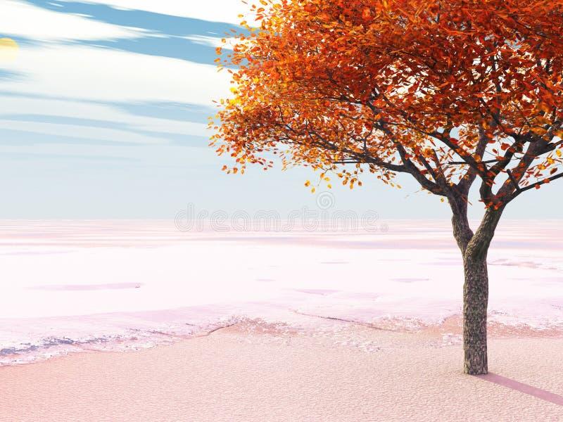 πρώιμο χιόνι διανυσματική απεικόνιση