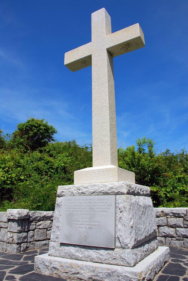 Πρώτα προσγειωμένος διαγώνιο μνημείο, Βιρτζίνια ΗΠΑ στοκ φωτογραφία με δικαίωμα ελεύθερης χρήσης