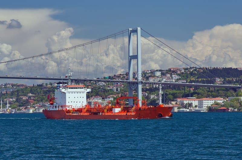 Πρώτη γέφυρα του Βοσπόρου που συνδέει την Ευρώπη και την Ασία, υπαίθριο Istanb στοκ φωτογραφία με δικαίωμα ελεύθερης χρήσης
