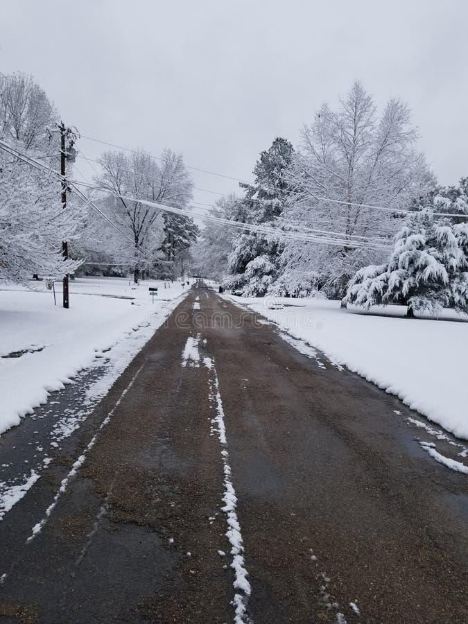 Πρώτη ημέρα Snowie στοκ φωτογραφία
