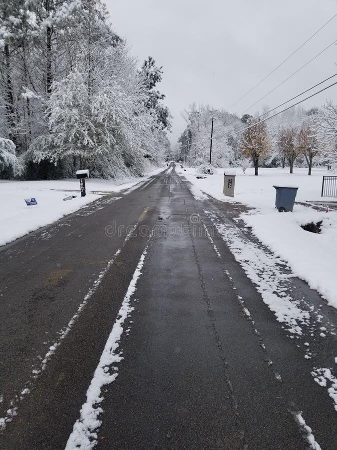 Πρώτη ημέρα Snowie στοκ εικόνες με δικαίωμα ελεύθερης χρήσης