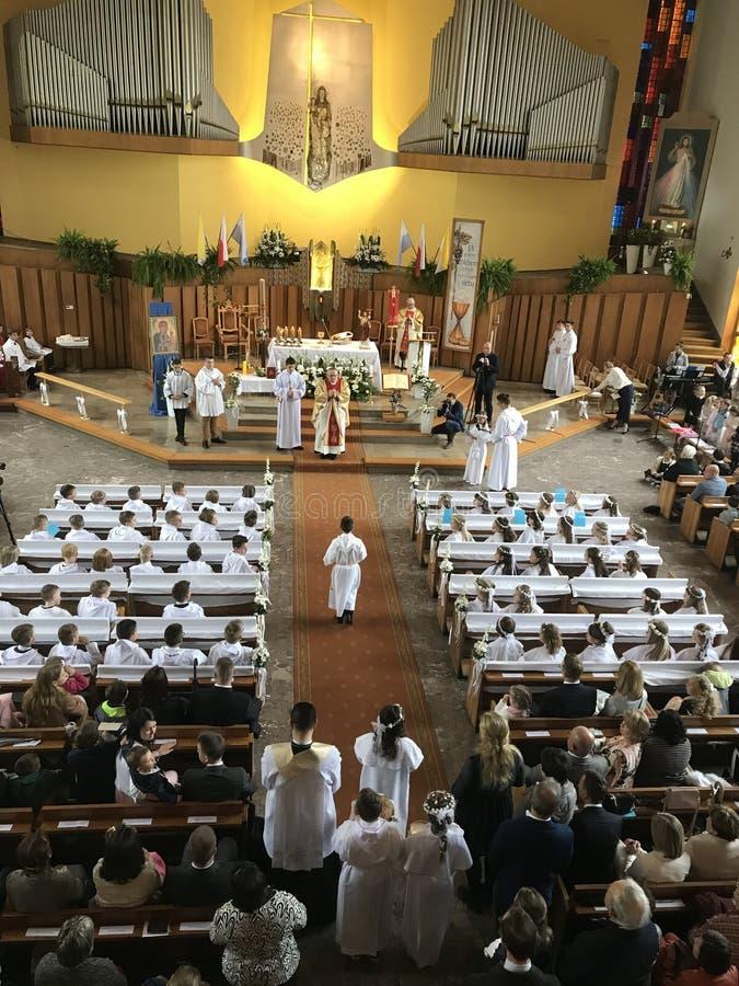 Πρώτη ιερή κοινωνία εκκλησία της Πολωνίας, Πόζναν στοκ εικόνες με δικαίωμα ελεύθερης χρήσης