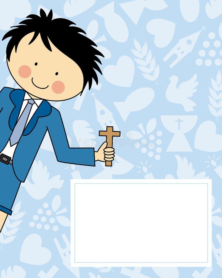 Πρώτη κοινωνία αγοριών ελεύθερη απεικόνιση δικαιώματος
