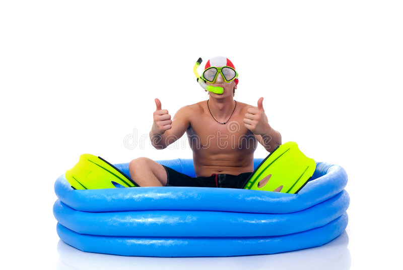 πρώτη κολύμβηση μαθήματος στοκ εικόνες με δικαίωμα ελεύθερης χρήσης