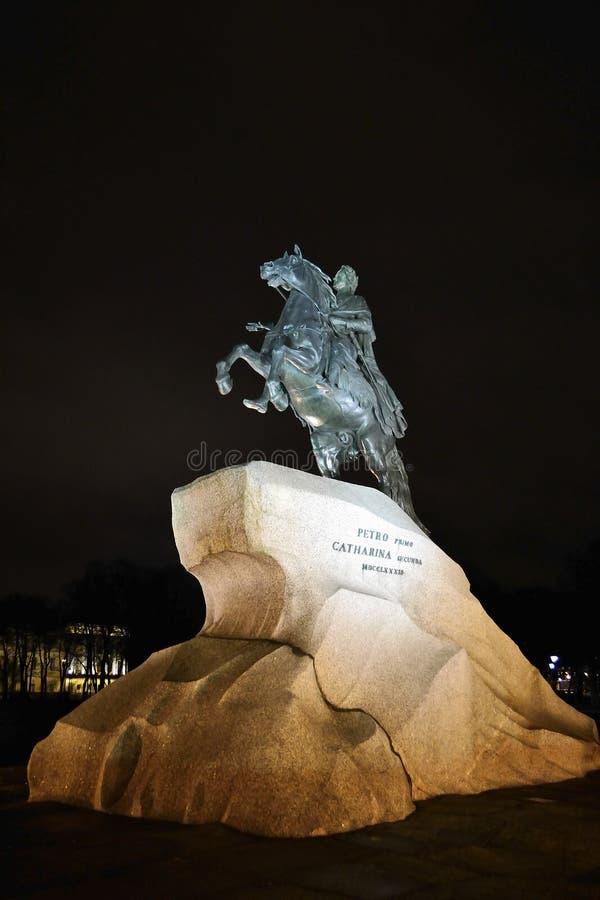 πρώτη νύχτα Peter μνημείων στοκ φωτογραφίες με δικαίωμα ελεύθερης χρήσης
