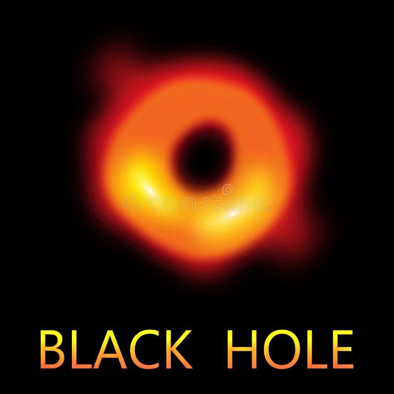 Πρώτη πραγματική εικόνα μαύρων τρυπών στοκ φωτογραφία με δικαίωμα ελεύθερης χρήσης