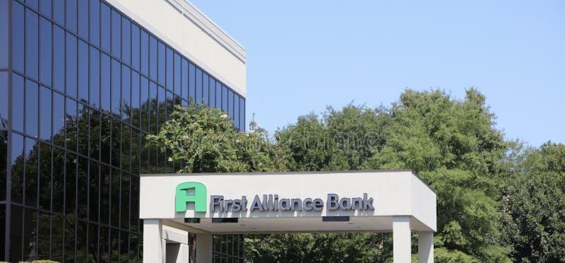 Πρώτη τράπεζα συμμαχίας στοκ εικόνες