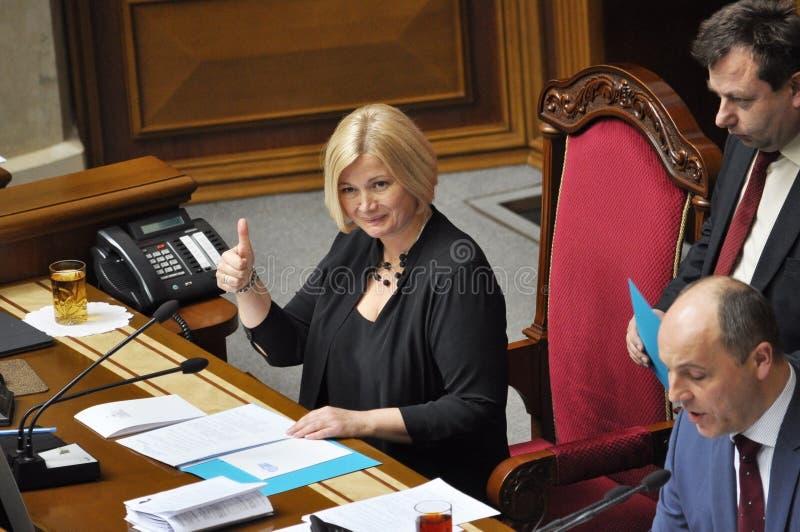 Πρώτος αναπληρωτής πρόεδρος του Verkhovna Rada της Ουκρανίας Iryna Ger στοκ φωτογραφία με δικαίωμα ελεύθερης χρήσης