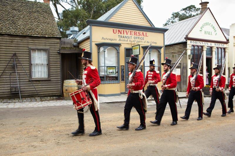 Πρώτος αυστραλιανός στρατός στοκ εικόνες