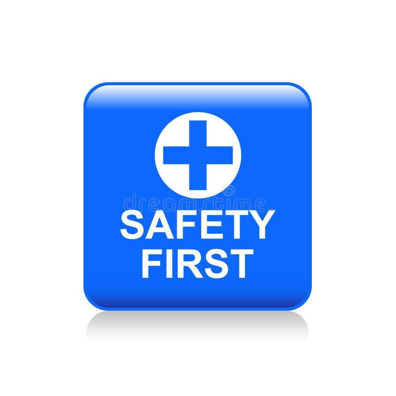 πρώτο κουμπί ασφάλειας ελεύθερη απεικόνιση δικαιώματος