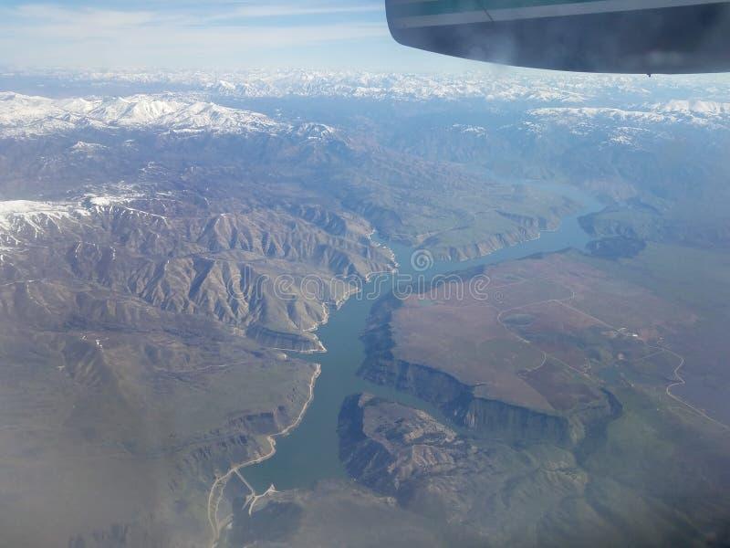 Πτήση από το Πόρτλαντ PDX στη Σωλτ Λέικ Σίτυ στοκ φωτογραφίες