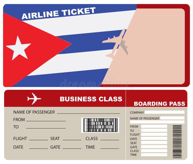 Πτήση επιχειρησιακής κατηγορίας στην Κούβα διανυσματική απεικόνιση