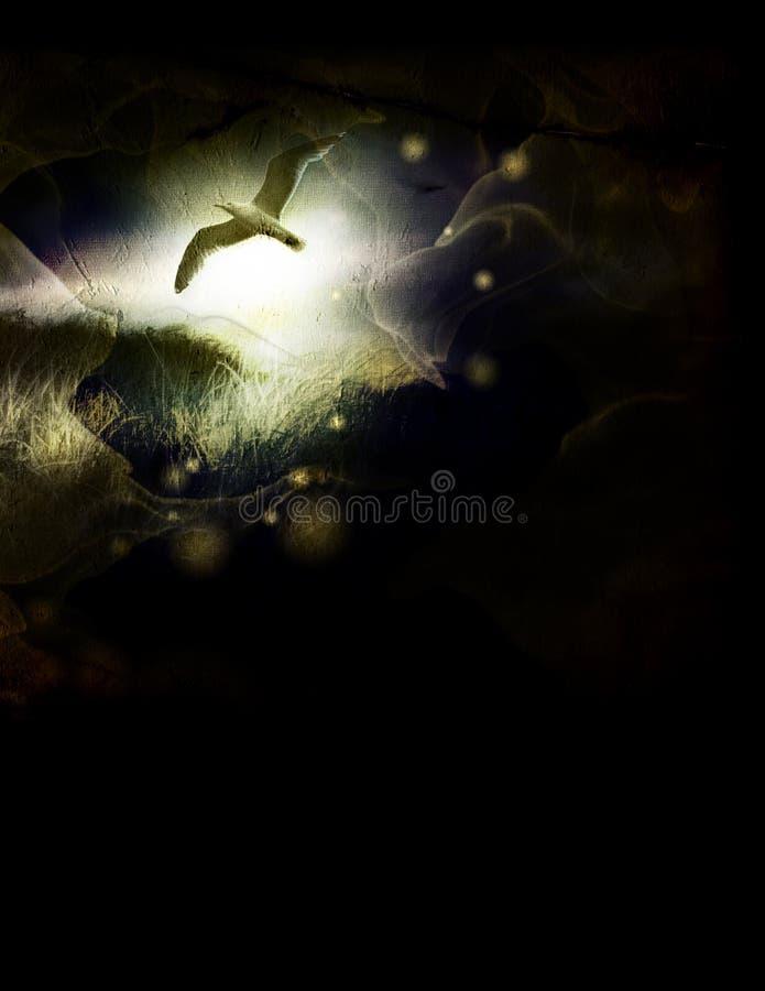 πτήση πουλιών grunge ελεύθερη απεικόνιση δικαιώματος