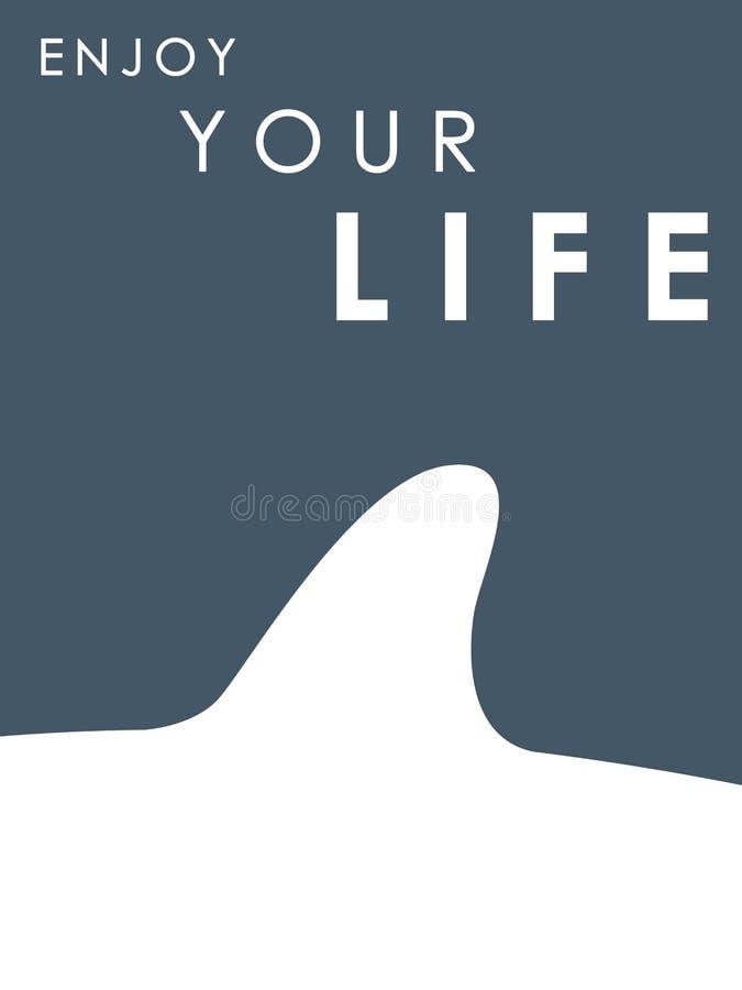 ΠΤΕΡΥΓΙΟ ΚΑΡΧΑΡΙΩΝ Έμβλημα με το κείμενο: Απολαύστε τη ζωή σας ελεύθερη απεικόνιση δικαιώματος