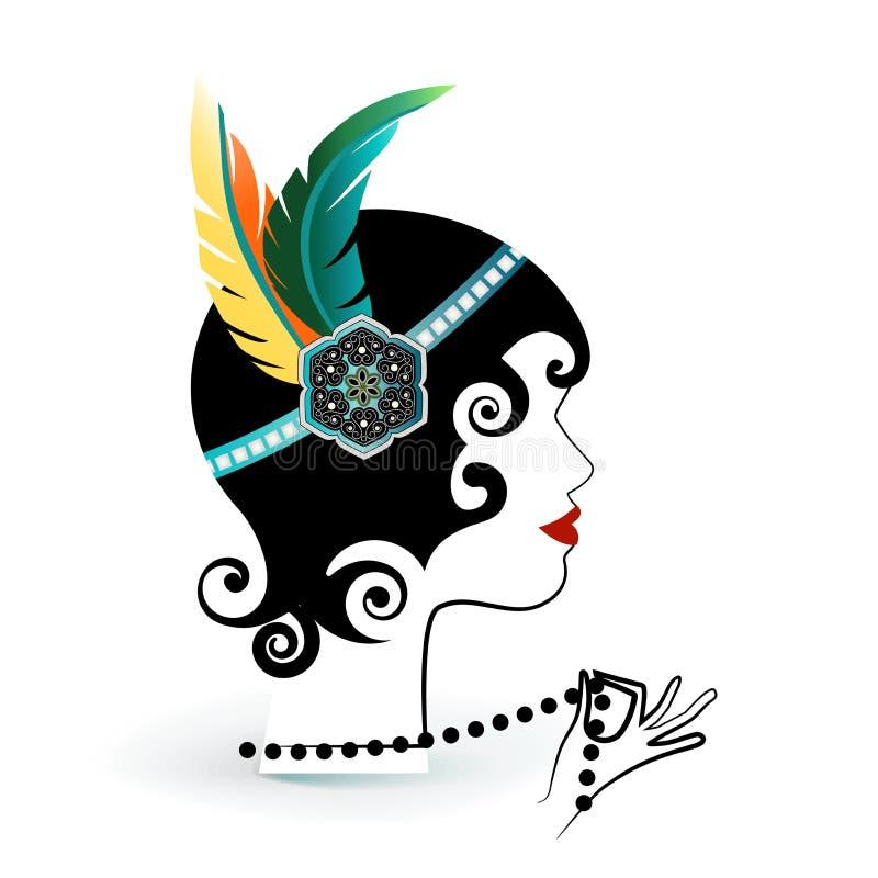 Πτερύγιο με τα φτερά headband ελεύθερη απεικόνιση δικαιώματος