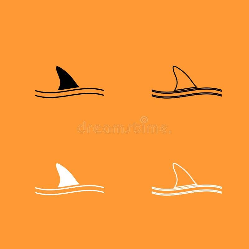Πτερύγιο του γραπτού εικονιδίου καρχαριών ελεύθερη απεικόνιση δικαιώματος