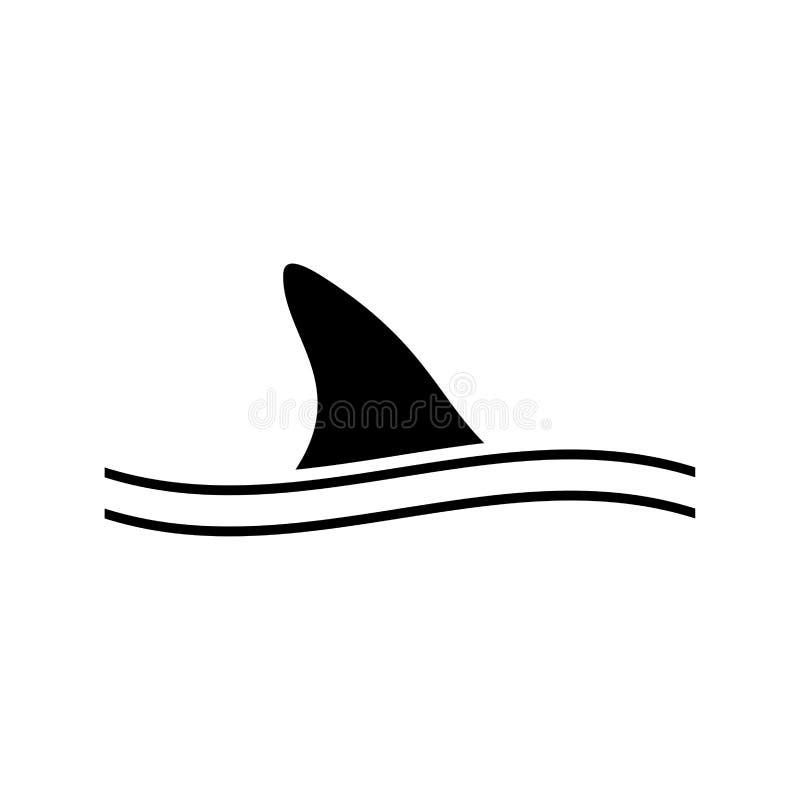 Πτερύγιο του μαύρου εικονιδίου καρχαριών απεικόνιση αποθεμάτων