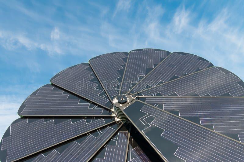 Πτυσσόμενος ηλιακός συσσωρευτής στοκ φωτογραφίες