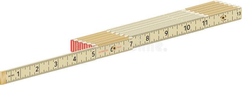 Πτυσσόμενος ξυλουργός`Ο χάρακας στοκ φωτογραφίες