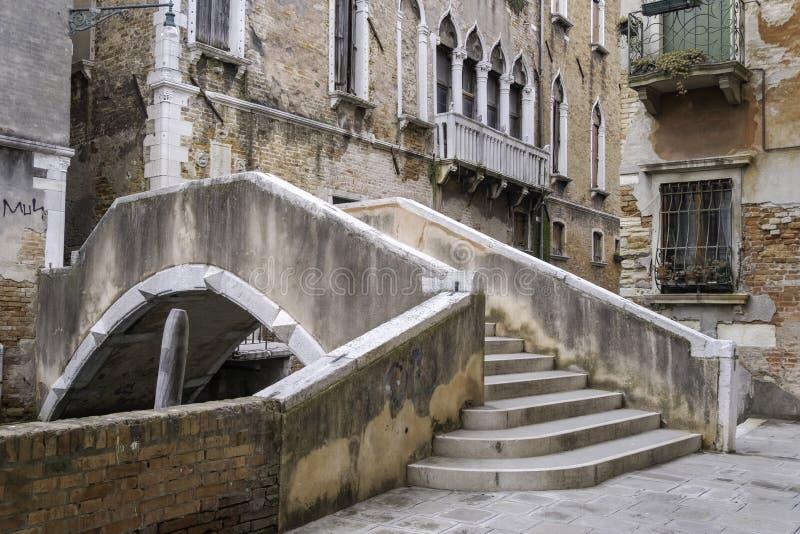 Πτυχωμένη μακριά γέφυρα, Βενετία, Ιταλία στοκ φωτογραφίες