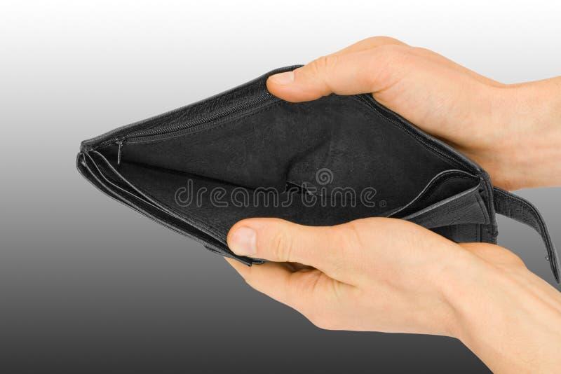 πτωχεύσαν πορτοφόλι στοκ φωτογραφία με δικαίωμα ελεύθερης χρήσης