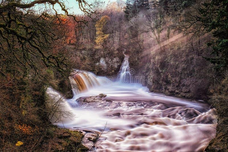 """Πτώσεις Clyde """"Bonington Linn """"νέο Lanark Σκωτία στοκ εικόνες με δικαίωμα ελεύθερης χρήσης"""