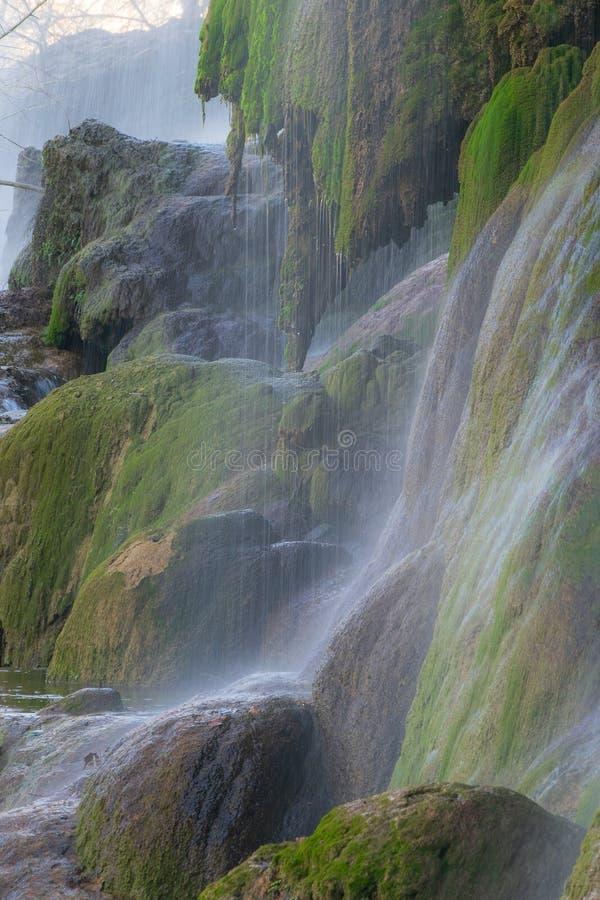 Πτώσεις Gorman στην κοντινή κάμψη κρατικών πάρκων κάμψεων του Κολοράντο, Τέξας στοκ εικόνα με δικαίωμα ελεύθερης χρήσης