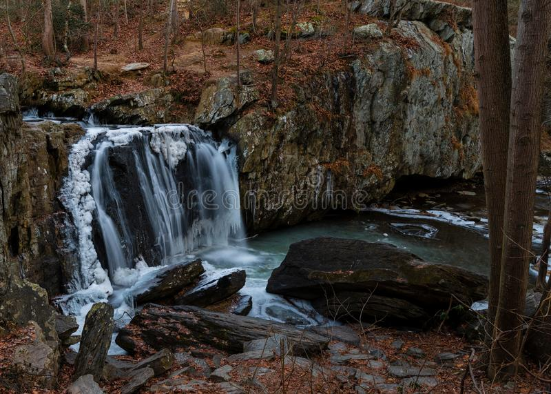 Πτώσεις Kilgore στο κρατικό πάρκο βράχων στοκ φωτογραφία με δικαίωμα ελεύθερης χρήσης