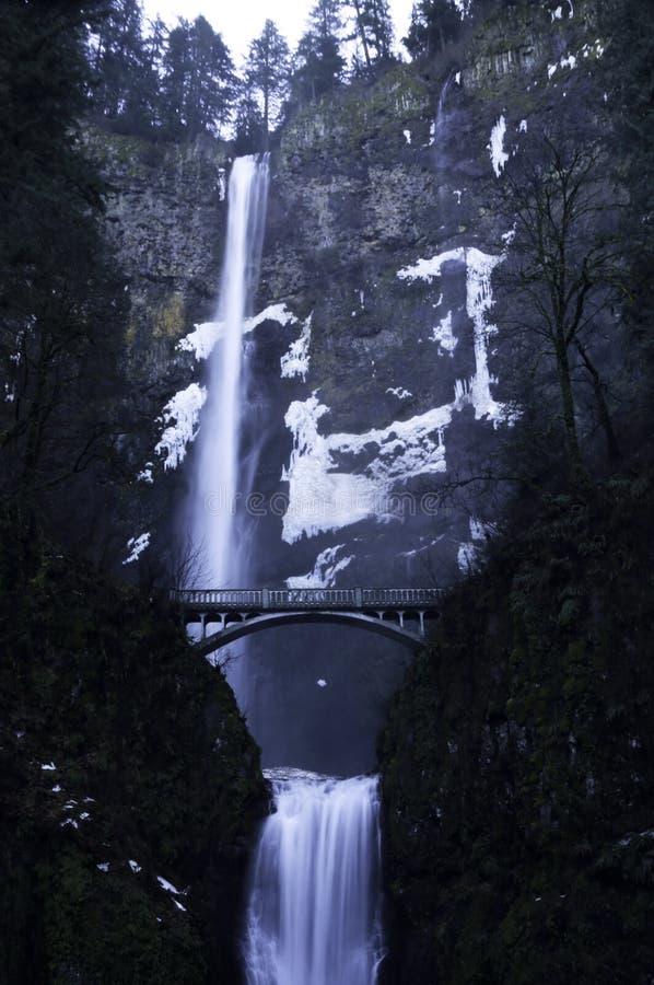 Πτώσεις Multnomah το χειμώνα στοκ φωτογραφίες με δικαίωμα ελεύθερης χρήσης
