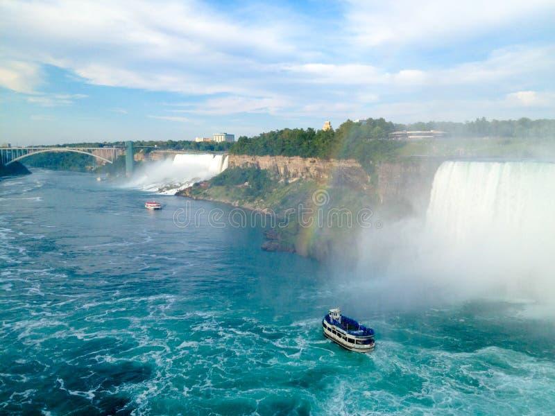 Πτώσεις Niagara, άποψη από τον Καναδά στοκ φωτογραφίες με δικαίωμα ελεύθερης χρήσης