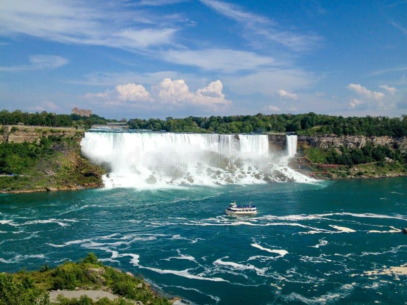 Πτώσεις Niagara, άποψη από τον Καναδά στοκ φωτογραφία