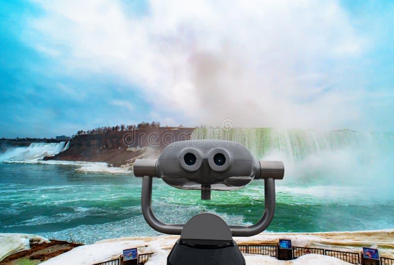 Πτώσεις Niagara μεταξύ των Ηνωμένων Πολιτειών της Αμερικής και του Καναδά στοκ εικόνα με δικαίωμα ελεύθερης χρήσης