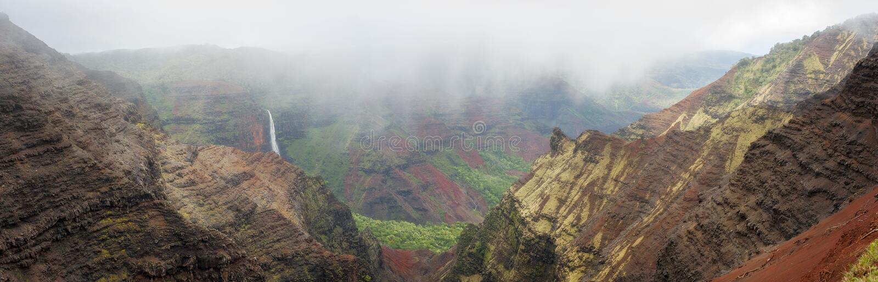 """Πτώσεις Waipo """"ο, φαράγγι Waimea, Kauai, Χαβάη στοκ εικόνα με δικαίωμα ελεύθερης χρήσης"""
