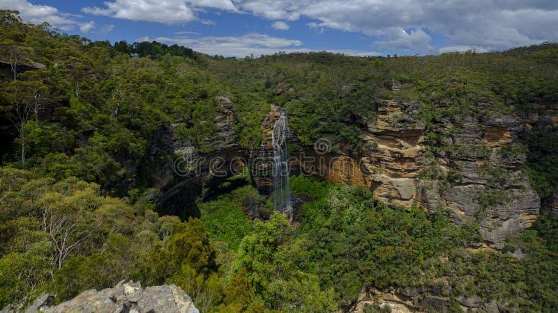 Πτώσεις Wentworth στα μπλε βουνά, NSW, Αυστραλία στοκ φωτογραφίες
