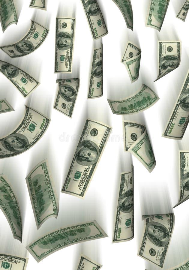 πτώση δολαρίων ανασκόπηση&sig διανυσματική απεικόνιση